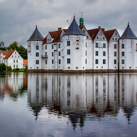 Glücksburg house (Germany) by Gianluca Presto - Buildings & Architecture Homes ( old house, home, reflection, water reflection, old, europe, glücksburg, reflections, architecture, house, landscape, historic, ancient, nature, towers, fortress, germany, homes, water, houses, lake, old building, tower, castle, ancient house, historical, medieval )