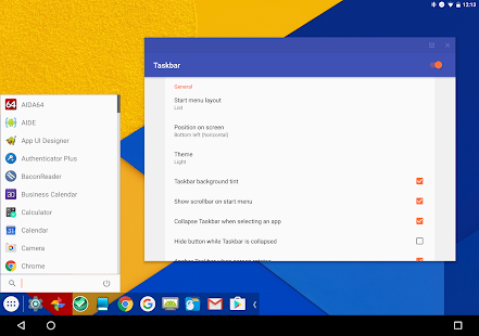 Taskbar - PC-style productivity for Android Screenshot