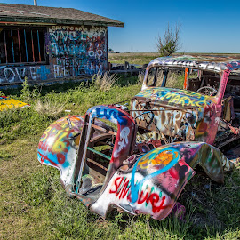 by Kevin Turner - Transportation Automobiles ( grafitti, graffiti, texas, antique, abandoned,  )
