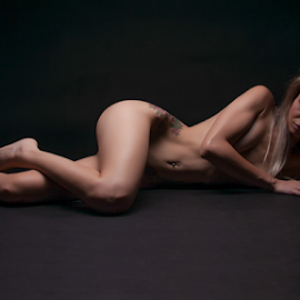 The Muse by James  Dekker - Nudes & Boudoir Artistic Nude ( model, nude, blond, sensuality, tattoo )