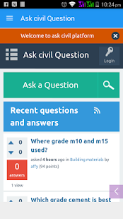 Ask civil Engineering Question - screenshot