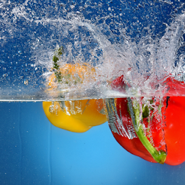 Capsicum by Vineet Johri - Food & Drink Fruits & Vegetables ( vkumar, red, capsicum, yellow )