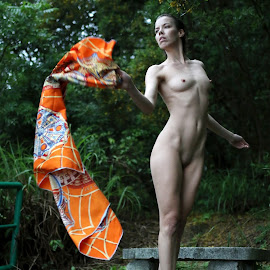 Cradle by the Wind by ObjeKtiva Artphoto - Nudes & Boudoir Artistic Nude ( macao, wind, nude, czech, artistic nude, denisastrakova, intouchwithnature, flying, sexy, nature, stylish, greenery, outdoors, denisa, artistic, macau, artnude, elements, rain )