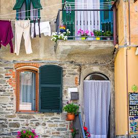Vernazza || Italia by Stan Petru - City,  Street & Park  Street Scenes ( cinque terre, italia, vernazza, architecture )