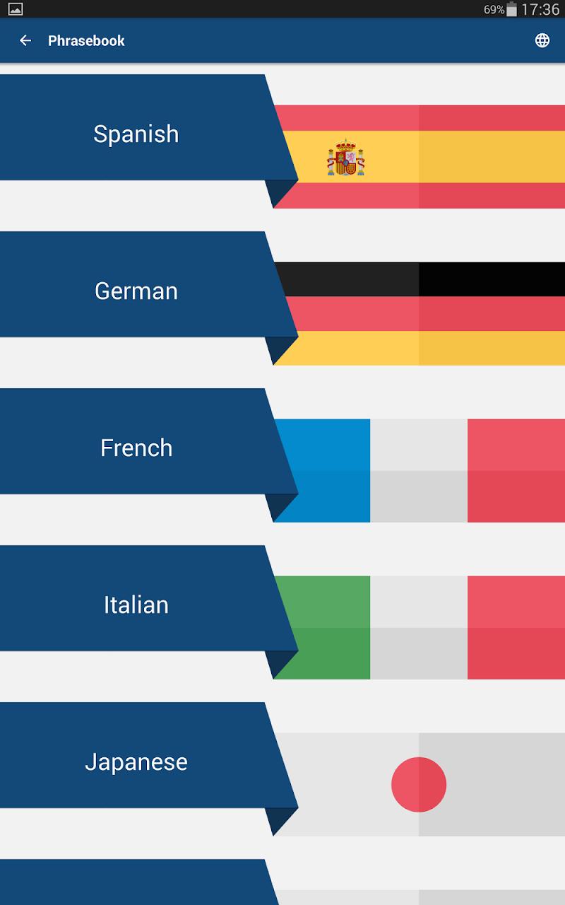 Travel Phrasebook | Foreign Language Translator Screenshot 15