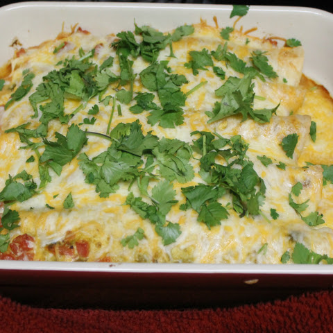 Slow Cooker Pork Enchiladas with Creamy Green Sauce