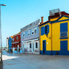 Simplesmente... Aveiro by Carlos Costa - Buildings & Architecture Homes ( water, color, aveiro, street, historical, house, portugal, boat, river )