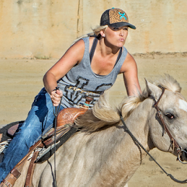 Barrel Racer 4 by Joe Saladino - Sports & Fitness Rodeo/Bull Riding ( girl, barrel racer, horse, racer, competition )
