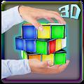 3D Neon Rubik`s Cube Theme