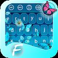 Neon Butterfly Keyboard APK for Bluestacks