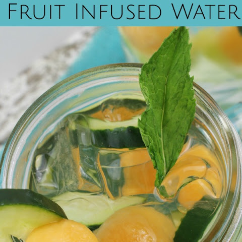 Cantaloupe And Cucumber Fruit Infused Water
