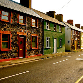 Irish Village by Seamus Crowley - City,  Street & Park  Neighborhoods ( ireland, europe, afternoon, sunny, street, classic )