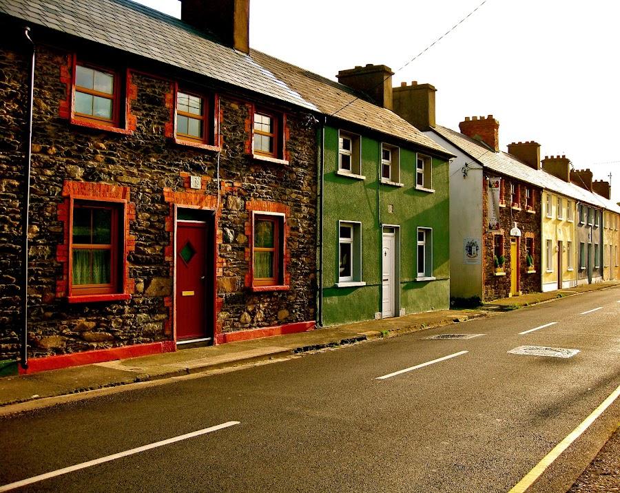 Irish Village by Seamus Crowley - City,  Street & Park  Neighborhoods ( ireland, europe, afternoon, sunny, street, classic )