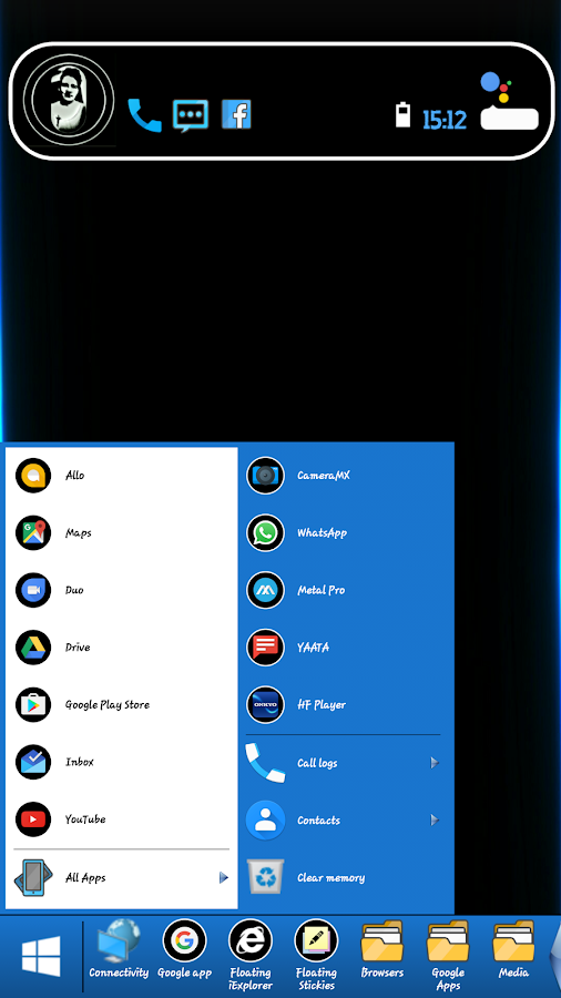 Mini Windows Taskbar Screenshot 0