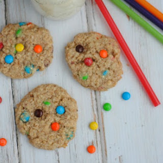 Mini M&M Quinoa Cookies