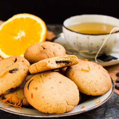 Orange-marzipan Chocolate Chip Biscuits (vegan, Gluten-free)