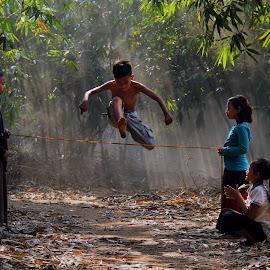 Children Playing Traditional Game by Yanti Hadiwijono - Babies & Children Children Candids