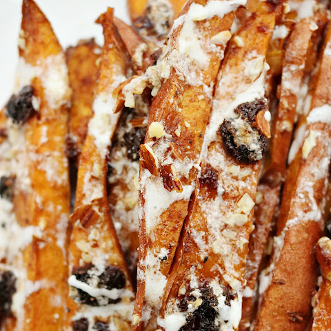Loaded Candied Sweet Potato Wedges