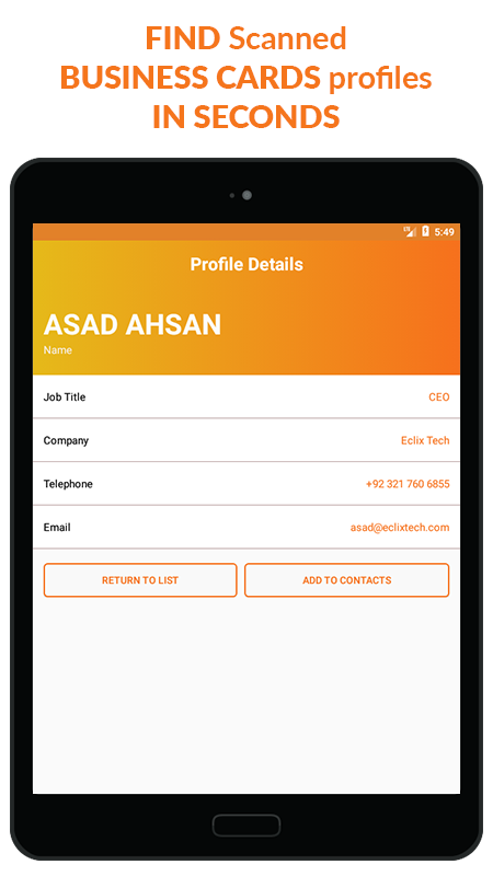 Business Card Scanner & Reader - Free Card Reader Screenshot 11