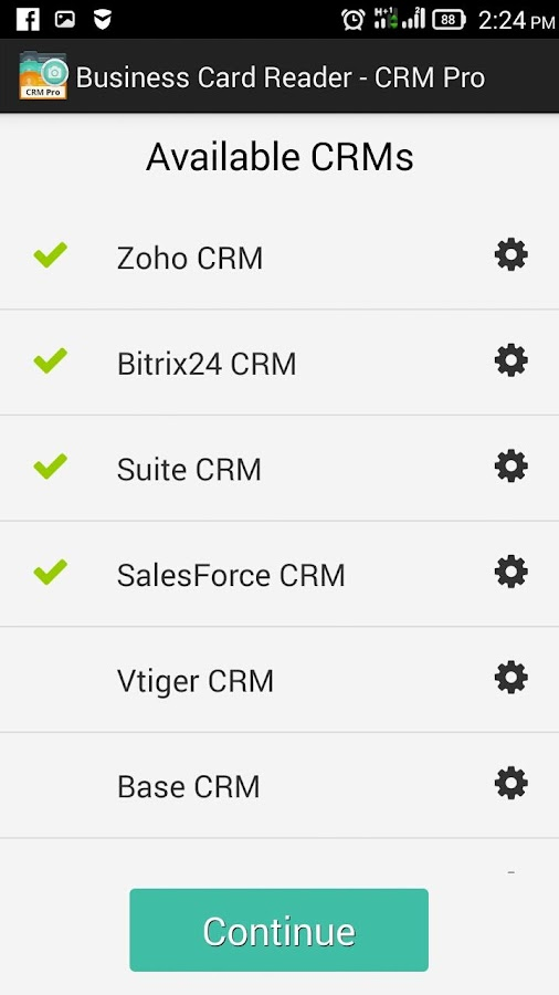 Business Card Reader - CRM Pro Screenshot 1