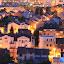 Tresnjevka at Night by Bozica Trnka - City,  Street & Park  Night ( lamps, tresnjevka, buildings, croatia, night, zagreb, town, homes, light, city at night, street at night, park at night, nightlife, night life, nighttime in the city,  )