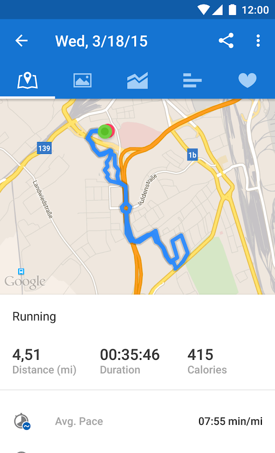 Runtastic Running & Fitness Screenshot 3