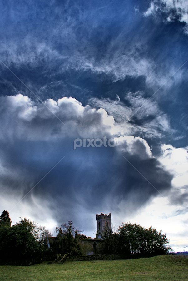... by H. B. - Landscapes Weather ( clouds, sky, church, weather, landscape )