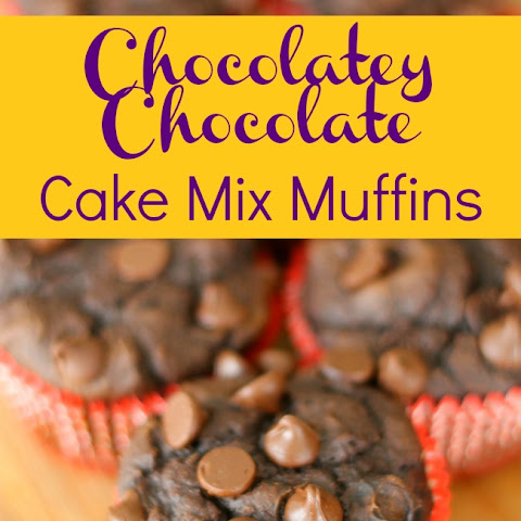 Chocolately Chocolate Cake Mix Muffins