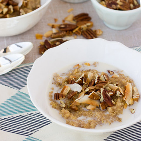 Sweet Brown Rice & Quinoa Breakfast Porridge {Gluten-Free, Vegan}