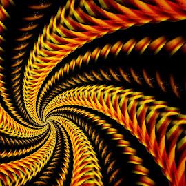 Spiral Sunflower by Ron Meyers - Digital Art Abstract