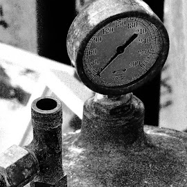 Boiler by Sergio Morales - Artistic Objects Industrial Objects ( industrial, black and white, metal objects, industrial photography, industrial shots, black and white shots, artistic objects, industry )