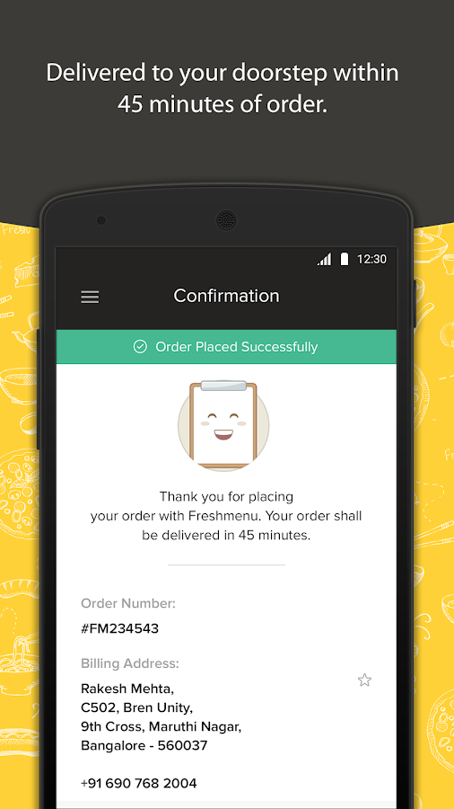 Freshmenu: Fresh Food Delivery Screenshot 4