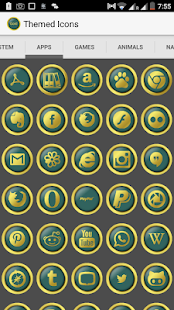 Royal Gold Icon Pack - Green - screenshot