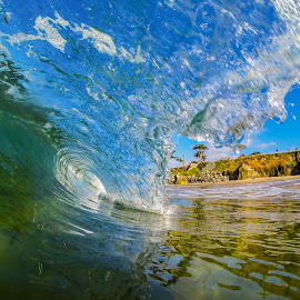 Blue Sky Wave by Unknown - Landscapes Beaches ( blue, waves, wave, ocean, beach, surf )