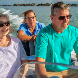 Cruising on Sarasota Bay by Joe Saladino - People Family ( man, family, water, boat, women )