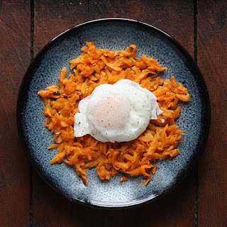 Sriracha Sweet Potato Hash Browns