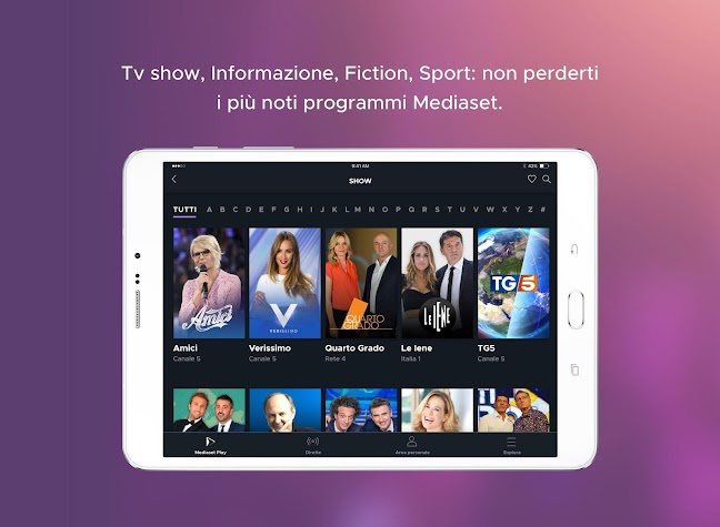 Mediaset Play Screenshot