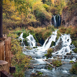 Fall by Angelica Less - Landscapes Waterscapes ( autumn, waterfall, fall, south dakota, landscape )