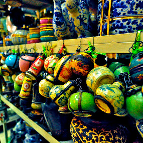 Mini pots by Mishesh Ramesh - Artistic Objects Antiques ( laos, old, intreats, rust, pots )