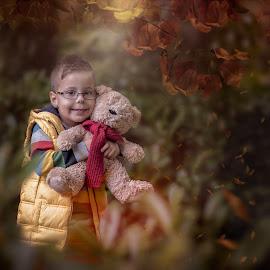 Autumn Fall by Lazarina Karaivanova - Babies & Children Child Portraits