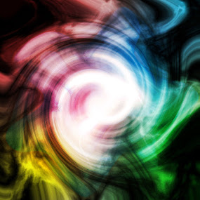swirls of colours by Nirabhra Mandal - Abstract Patterns