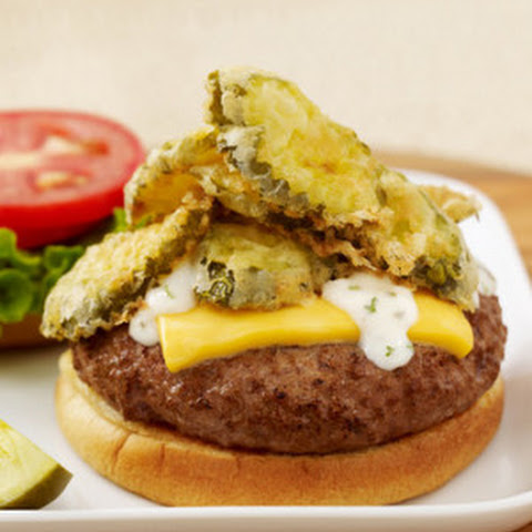 State Fair Fried Pickle Burger