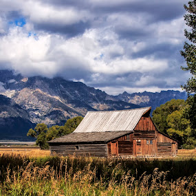 Old Barn by Patti Reddoch - Buildings & Architecture Public & Historical