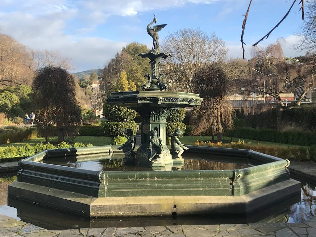 "Erected and presented to the citizens of Dunedin by Wolf Harris Esq.the fountain was original sited at ""The Triangle"", later named Queen's Gardens, near The Exchange. It was moved to the Botanic ..."