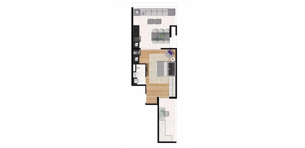 Planta Uphouse 50 m²