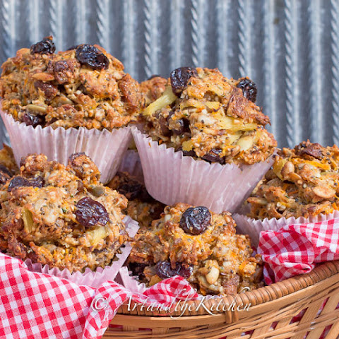 Sour Cherry and Fig Whole Wheat Muffins