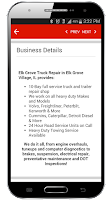 Screenshot of Find Truck Service & Stops