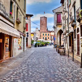 Old streets by Eduard Andrica - City,  Street & Park  Neighborhoods ( old, europe, store, street, tourism, architecture, travel, historic, city, enoteca, shops, buildings, bassano, town, italy, downtown )