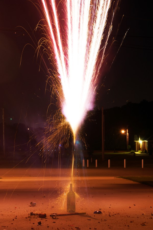 Fireworks by Kevin Sullivan - Abstract Fine Art ( rocket, fireworks, alabama )