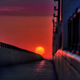O Street by DE Grabenstein - Landscapes Sunsets & Sunrises